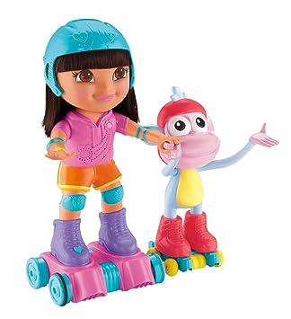 Dora la Exploradora - Dora y botas patinaje (Mattel BJV36): Amazon ...