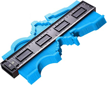 Shape Duplicator 254mm 10-Inch General Tools 833 Plastic Contour Gauge Precisely Copy Irregular Shapes For Perfect Fit and Easy Cutting Profile Gauge