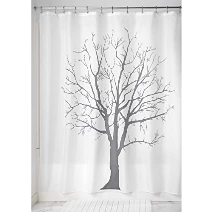 Amazon InterDesign Tree Soft Fabric Shower Curtain 72 X