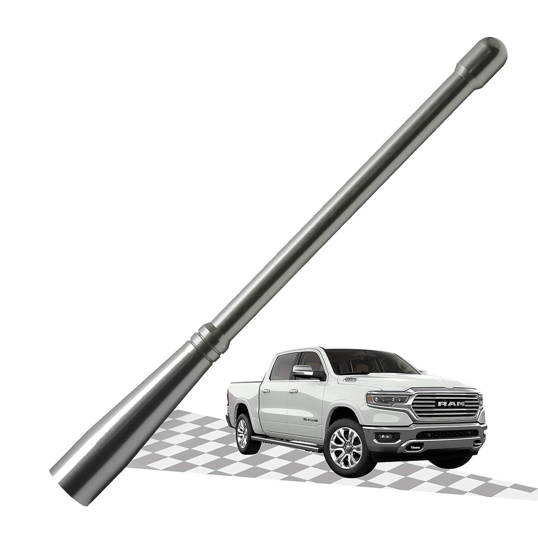 Silver/Titanium Elitezip Replacement Antenna for Dodge RAM 2500 2012-2018 6.75 Inches Optimized AM//FM Reception with Tough Material