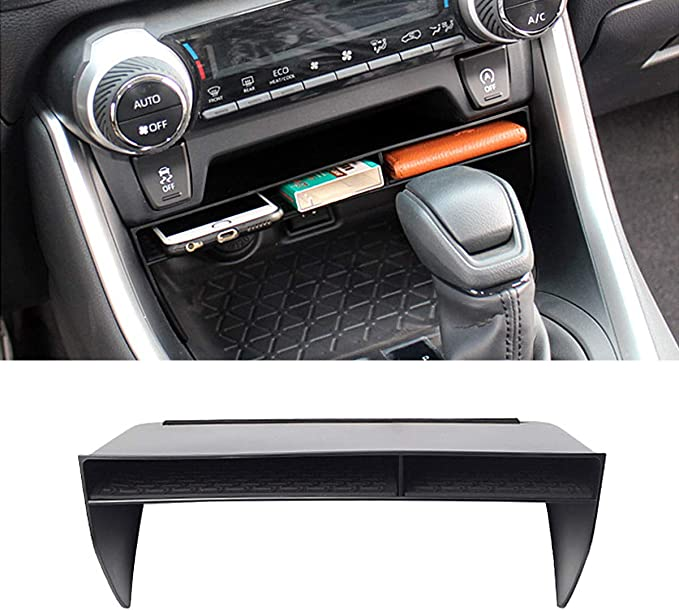 RAV4 Interior Accessories,Armrest Storage Compatible for Toyota Rav4 Center Console Organizer,Center Console Tray Compatible with Toyota Rav4 2019 2020,Keep The Center Console Organized White