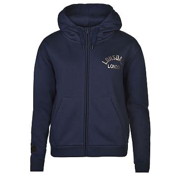 Lonsdale London sudadera con cremallera y capucha para mujer azul marino con capucha chaqueta sudadera Ropa