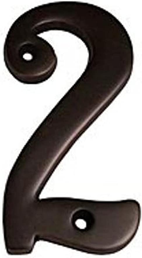Polished Brass 6 Taymor 25-PBZ46 Zinc 4-Inch House Number