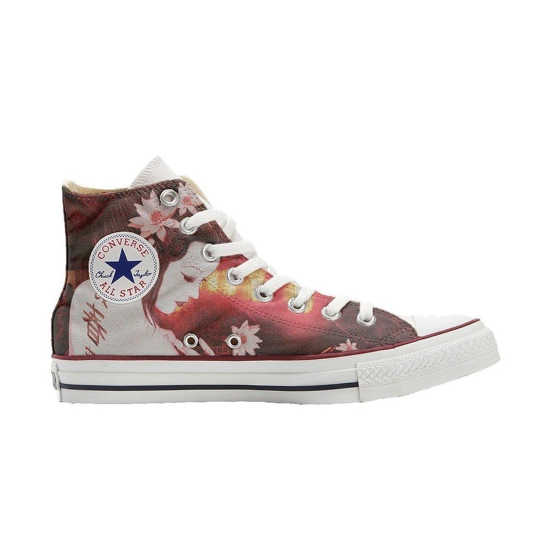 Converse All Star Hi Customized personalisierte Schuhe (Handwerk Schuhe) Geisha Conver