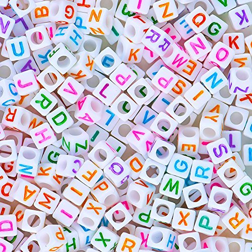 Pandahall 250Pcs Acrylic Letter Alphabet