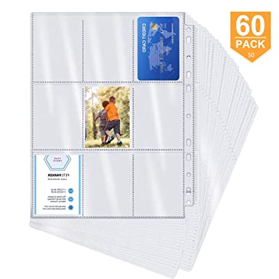 540 Pockets Baseball Cards Sleeve Trading Card Storage Album Pages Card Collector Coin Holders Wallets Sleeves SetPerfect for Skylanders,Pokemon,Top Trumps,Soccer,Football,Basketball-6.9×9.3cm Pocket: Toys & Games