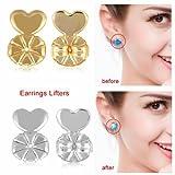 Beautyearrings Hot Magic farfalline, supporto orecchino ascensori anallergico adatto a tutti i post orecchini color oro/color argento orecchini gioielli accessori