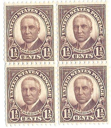 USA Postage Stamp Block 1 2 Cent Harding 1931 MNH Scott 684