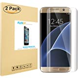 Galaxy S7 Edge Screen Protector [Full Coverage], PLESON® [3D Full Curved Edge] Screen Protector for Samsung Galaxy S7 Edge [Edge to Edge], [2-PACK] Extreme Clarity Invisible Shield -