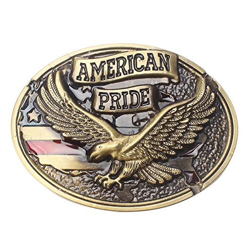 Generous American Eagle Vintage Western Cowboy Belt Buckle