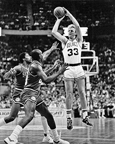 Boston Celtics Larry Bird 8x10 Photo, Picture. Over Dr. J. (Larry Bird Picture)
