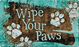 Toland Home Garden 800455 Turquoise Paws Doormat, Multicolor
