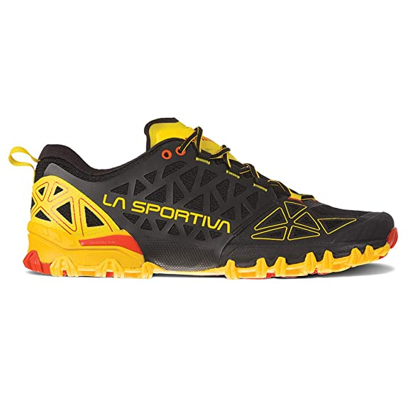 La Sportiva Bushido II Running Shoe, Black/Yellow, 38