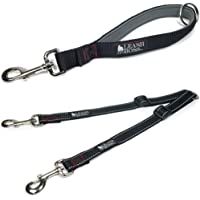 Leashboss Reflective Two Dog Coupler with Quick Grab 12 Inch Short Leash