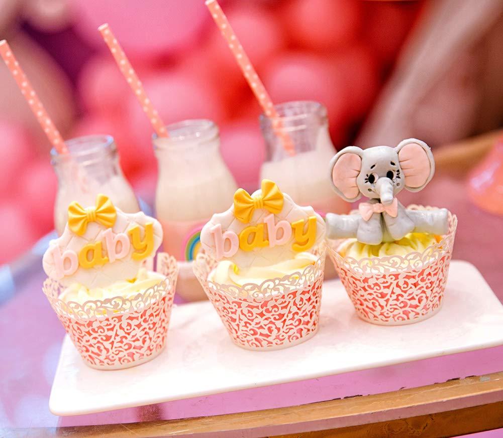 Blau WDOIT 50pcs Cupcake Wrappers Lace Wrap Kuchen Paper Cup Ohne Boden Periphere Cupcake Dekoration fur Hochzeit Geburtstag Party