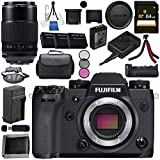 Fujifilm X-H1 Mirrorless Digital Camera (Body Only) 16568731 XF 80mm f/2.8 R LM OIS WR Macro Lens #16559168 VPB-XH1 Vertical Power Booster Grip Bundle