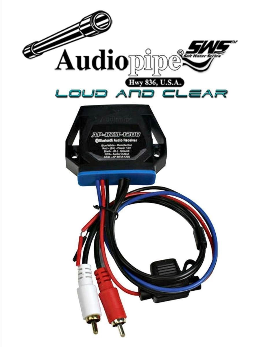Audiopipe Marine Bluetooth Audio Receiver Converts any Amplifier