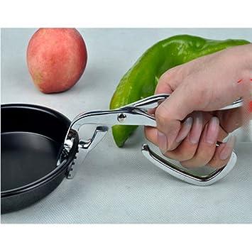 Clip de acero inoxidable Pizza bandeja de horno para carpeta Clip olla de barro (abrazadera