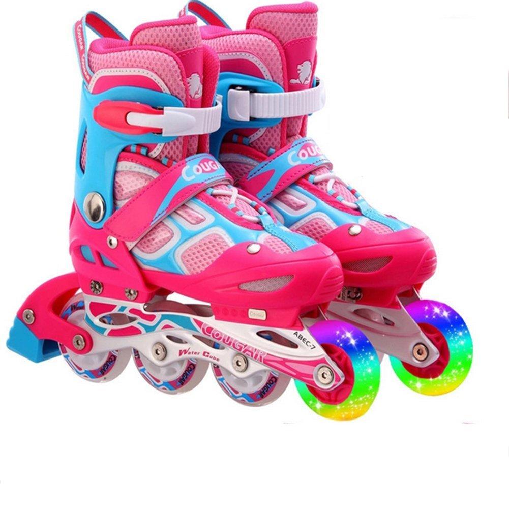 salida de fábrica OOFAY Patines En Línea Patines para Niños Set Patinaje Ajustable Ajustable Ajustable Zapatos,Pink,S  Envío 100% gratuito
