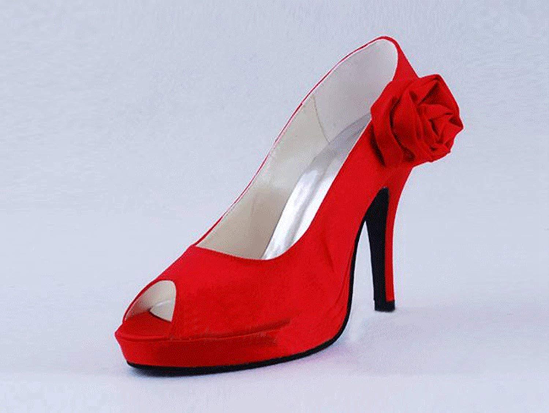 ZHRUI Mädchen Peep Peep Peep Toe Stiletto High Heel Braut Hochzeit Abend Sandalen (Farbe   Peach-10cm Heel, Größe   8.5 UK) 5a6697