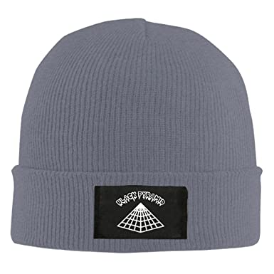 Amazon.com  Knit Cap Woolen Chris Brown Black Pyramid Slouchy Beanie   Clothing e524e9bc361