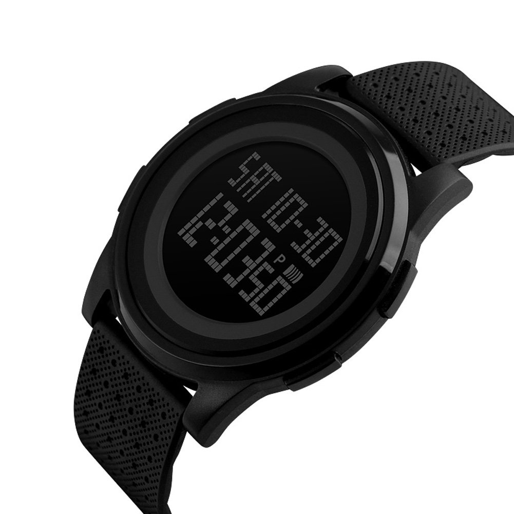 MJSCPHBJK Men s Digital Sports Watch LED Screen Electronic Military Waterproof Watches for Outdoor Running with Stopwatch LED Screen