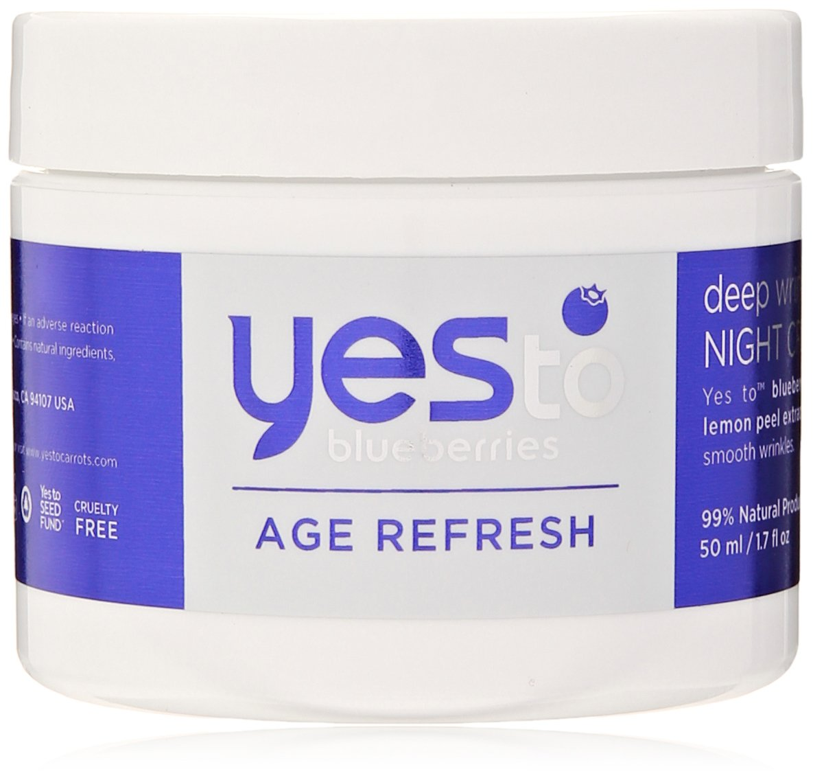 Yes To Blueberries Age Refresh Deep Wrinkle Night Cream, 1.7 Ounce 7311104
