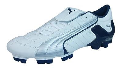 c3e9b51c0 PUMA V Konstrukt II GCi FG Mens Leather Soccer Boots Cleats-White-7.5