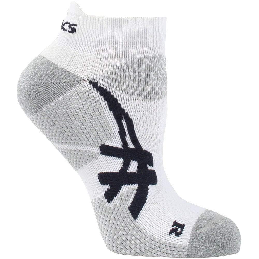 ASICS Resolution Low Cut Socks, White/Frost, Small