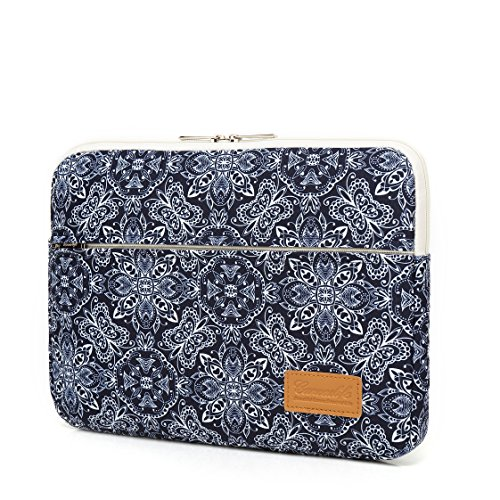 64c262f6e46c Canvaslife Blue Vintage Pattern 360 Degree Protective 13 inch Canvas Laptop  Sleeve with Pocket 13 inch 13.3 inch Laptop case 13 case 13 Sleeve
