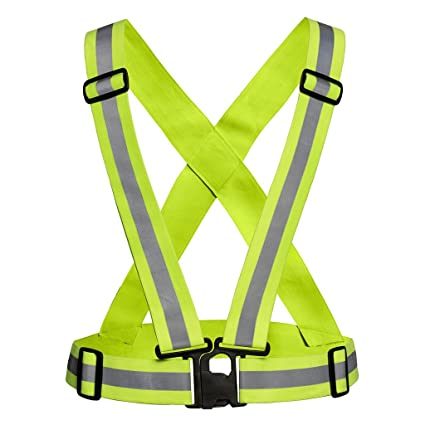 Imported Safety Security Reflective Adjustable Vest Belt Gear Stripe Night Running