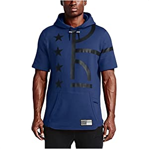 Nike Men's Air Pivot V3 Basketball Short-Sleeve Hoodie, White, X-Large