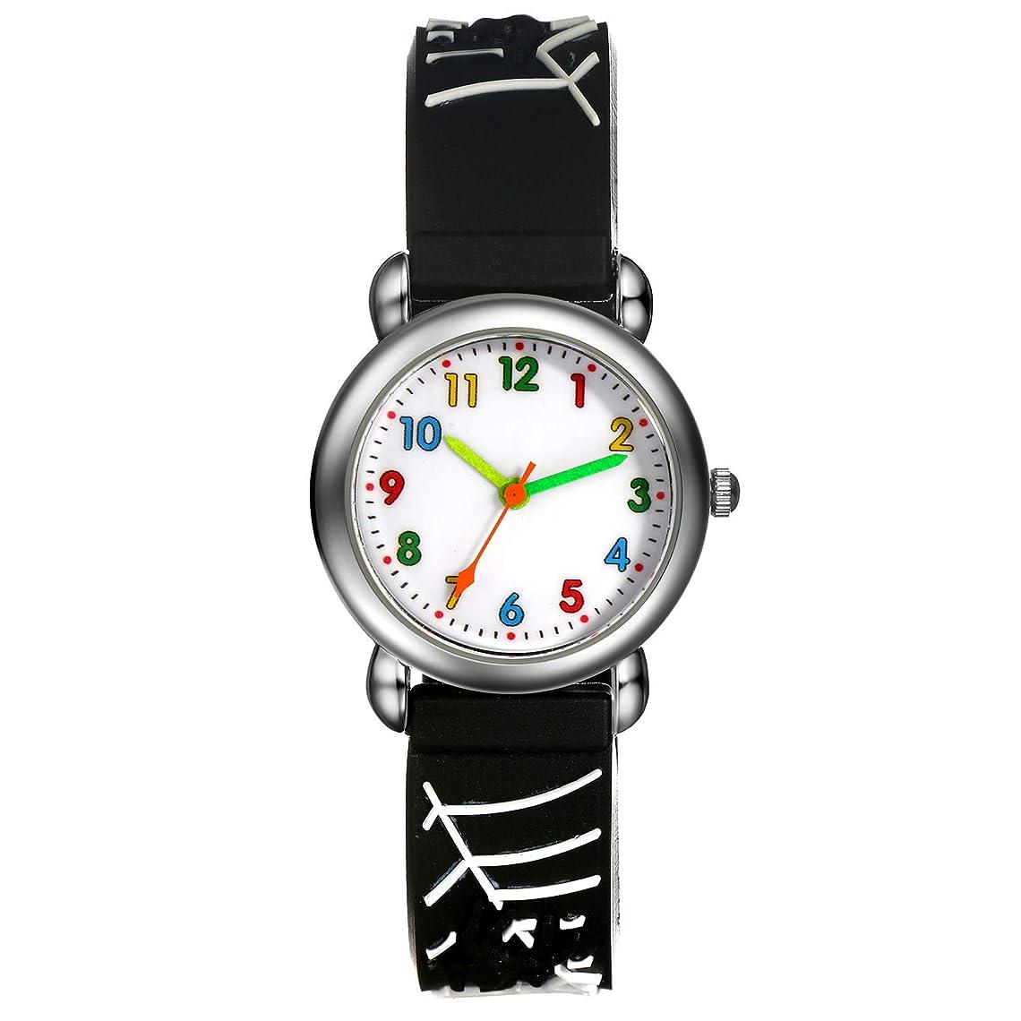 有利リム形状子供腕時計 ボーイズスポーツウォッチ アウトドア多機能防水 アラート 日付曜日表示 デュアルタイム LED アナログ表示 女の子男の子 デジタルウォッチ (レッド)