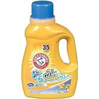 ARM & HAMMER Liquid Laundry Detergent Plus OxiClean, Cool Breeze Scent, 35 Loads, 1.81-L