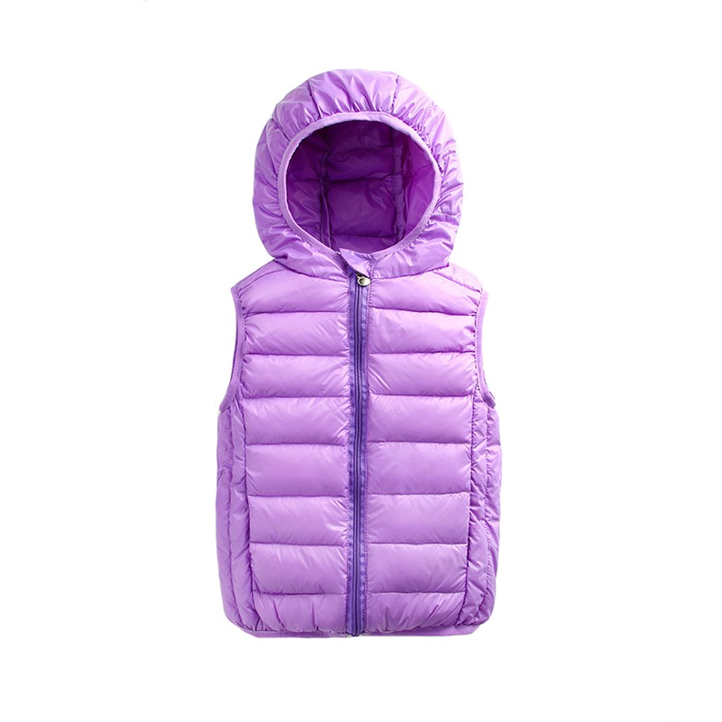 Boys Girls Down Vest Light Weight Coats Winter Warm Outwear 2-7 Years Vine Vine Trading Co. Ltd B161018WT006702V