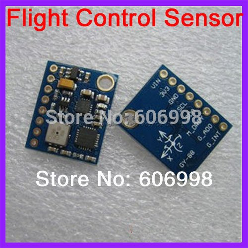 SYEX 5pcs/lot GY-88 MPU-6050 HMC5883L BMP085 10DOF Flight Control Sensor Module