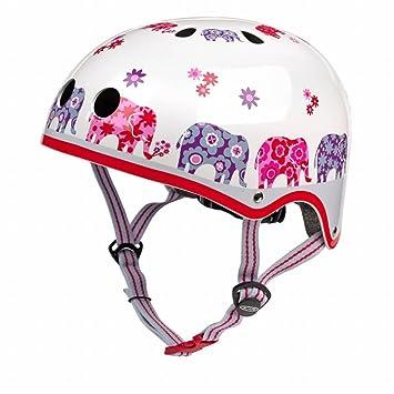 Micro Casco de Seguridad para niños y niñas de impresión de Elefante en Bicicleta, Moto