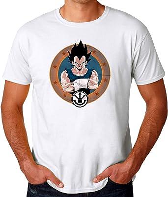TeeWorld Vegeta Dragon Ball Z Camiseta para Hombres: Amazon.es: Ropa y accesorios