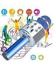 SunTop Bluetooth Karaoke Mikrofon, Handy Karaoke Microphone, Mikrofon Stereo Player für KTV Player für PC iPhone iPad Android Smartphone