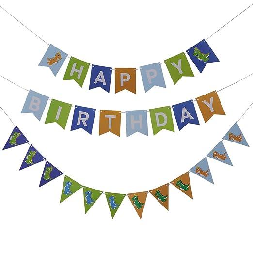 Amosfun 2 Sets Bebé Feliz Cumpleaños Papel Banner Cumpleaños ...