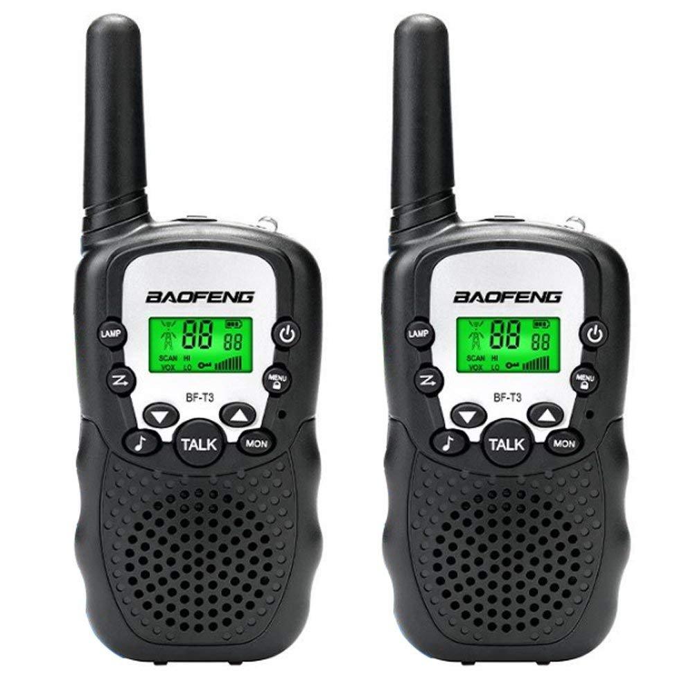 Qilampe Walkie Talkies for Kids, 22 Channel Walkie Talkies 2 Way Radio 2 Miles FRS/GMRS Handheld Mini Walkie Talkies Flashlight for Kids (1 Pair)