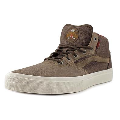 84e0298bf9 Vans Gilbert Crockett Pro Mid Men Round Toe Canvas Twill Brown Skate Shoe  (6.5 Mens