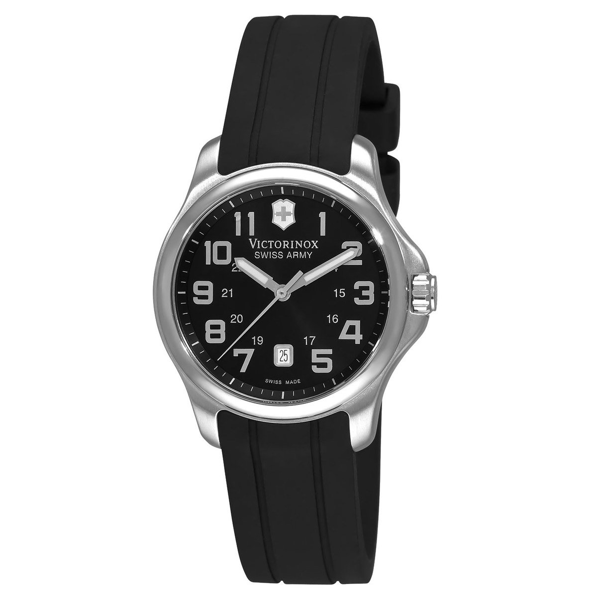 Victorinox Swiss Army Women's 241367 Officer's Black Dial Watch