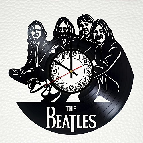 The Beatles Record Wall Clock - Get unique office room wall decor - Gift ideas for men and women - Modern Rock Band Unique Art - Clock Post Office