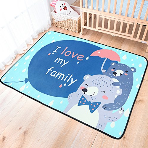 QXMEI Children's Folding Climbing Mat Living Room Bedroom Carpet Baby Crawling Anti-Slip Mat,B-59.178.7in by QXMEI (Image #1)