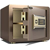 Safes Household Small Safe Double Password Anti-Theft Security Safe Office Cash Deposit Box Bedside Table in-Wall…