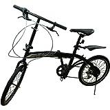 【スポーツデザインフレーム】FZMCY 20インチ 折りたたみ自転車 シマノ6段変速機【PL保険加入済み】