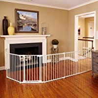 """Toddleroo by North States 3-in-1 Metal Superyard: 144"""" long extra-wide gate, barrier or play yard.…"""