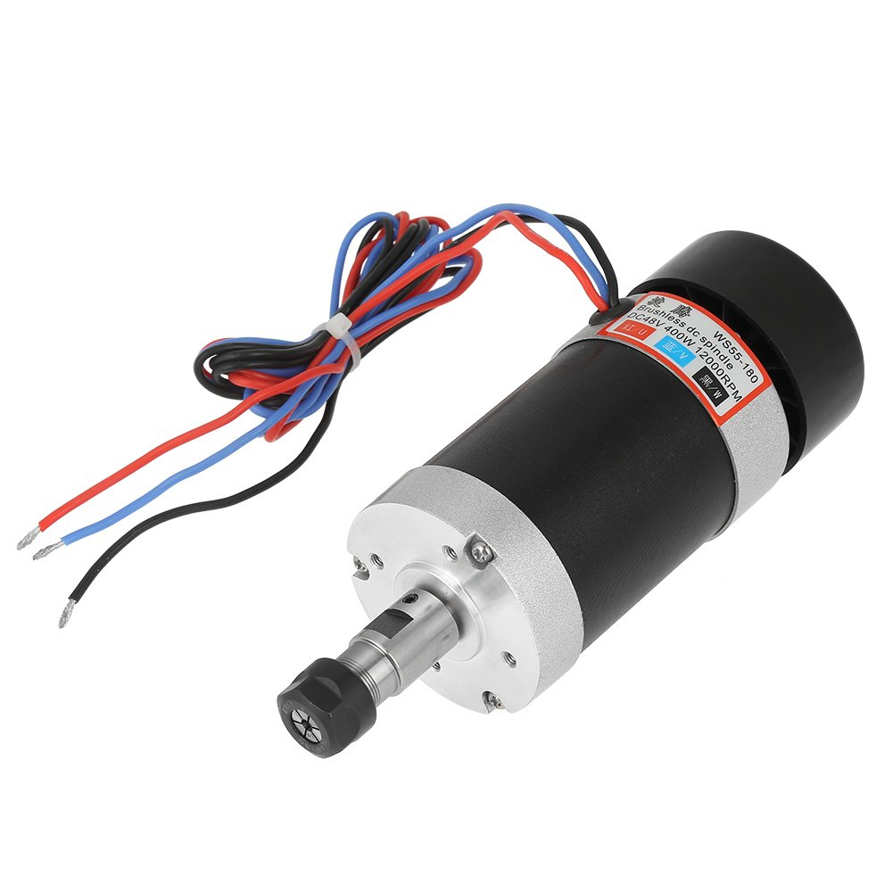 CNC Spindle Motor High Speed Air Cooling Brushless DC Motor WS55-180 400W Hilitand