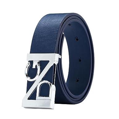 nuevo estilo 6209b 38d39 zolimx Hombres Cinturón de Cuero Correa Cinturones de Piel Diseñado para  caballero